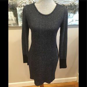 Maje metallic knit mini dress 2
